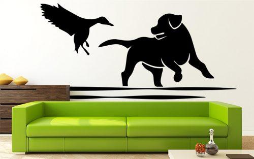 kutyás falmatrica állatos madaras kutya 1