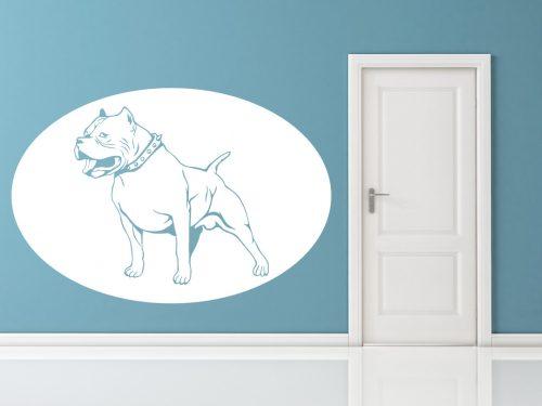 kutyás falmatrica állatos pitbull terrier 1