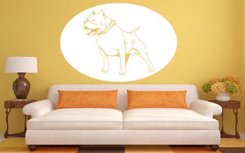 kutyás falmatrica állatos pitbull terrier 2