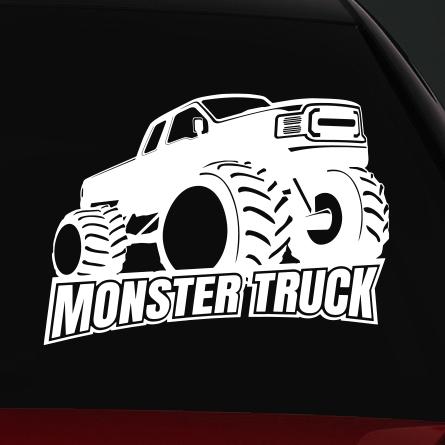 monster truck 4x4 autó matrica