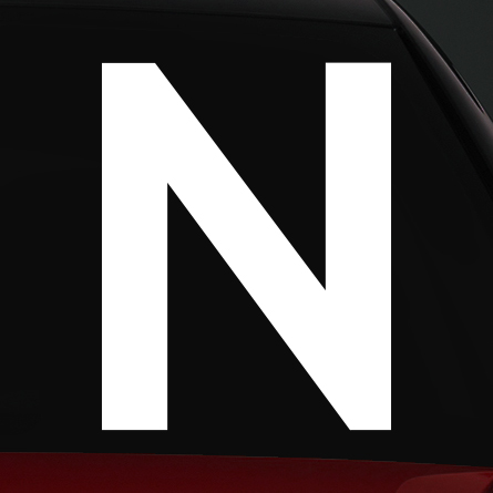 N jelölés rally matrica