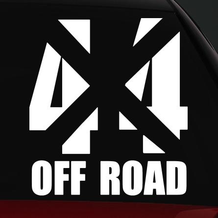off road autó matrica 4x4