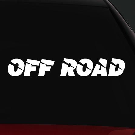 off road autó matrica