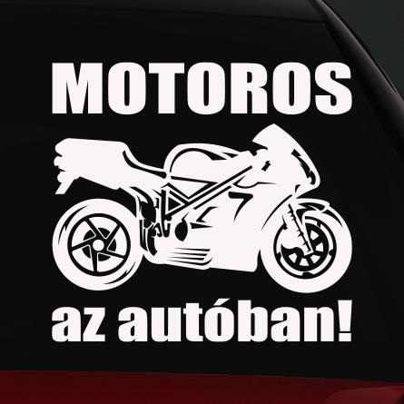 Speed motoros az autóban matrica