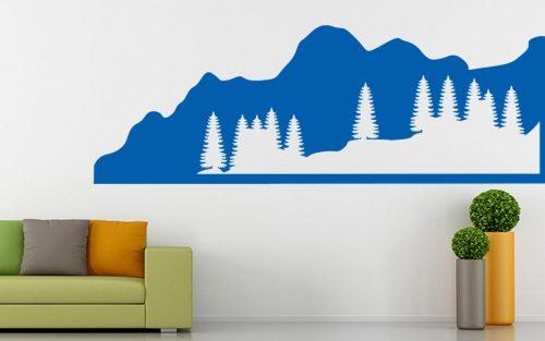 sziklás erdő falmatrica 1