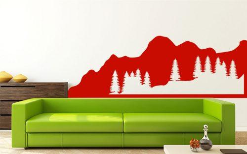 sziklás erdő falmatrica 5