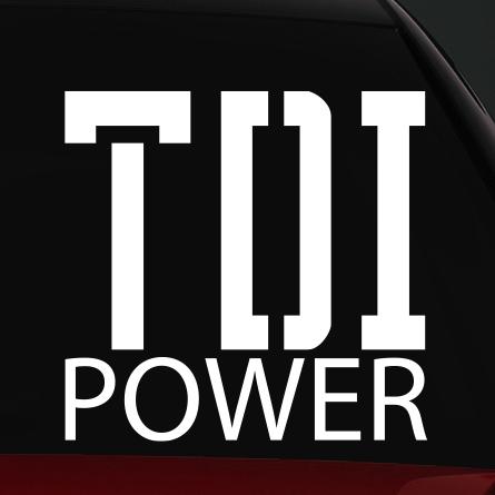 tdi autó matrica power