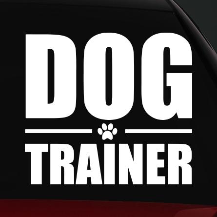 Trainer kutyás autó matrica
