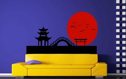város japán falmatrica 2