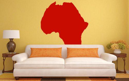 világtérkép falmatrica afrika 5