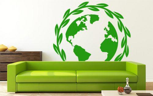 világtérkép falmatrica leveles 1