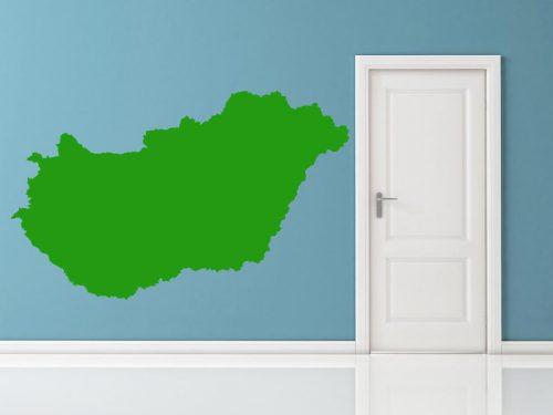 világtérkép falmatrica magyarország 2