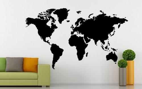 világtérkép falmatrica óriási 3