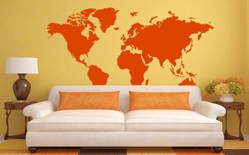 világtérkép falmatrica óriási 5