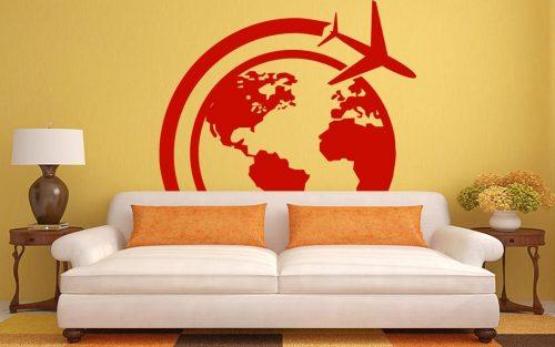 világtérkép falmatrica repülös 5