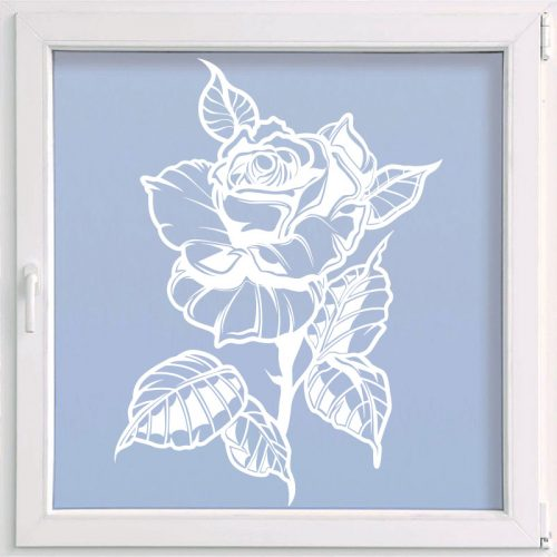 virágos ablakmatrica rózsa