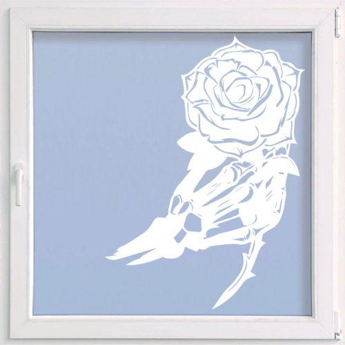 virágos ablakmatrica rózsa csontváz