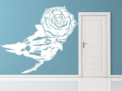 virágos falmatrica rózsa csontváz 2