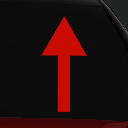 Vontatószem jelölés rally matrica
